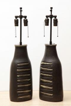 Bruno Gambone Pair of Monumental Lamps - 1116643