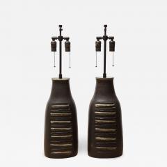 Bruno Gambone Pair of Monumental Lamps - 1117358
