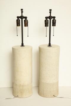 Bruno Gambone Pair of Monumental Lamps by Bruno Gambone Italy c 1950 - 505213