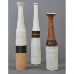 Bruno Gambone Set of Three Miniature Gambone Ceramic Vessels ca 1980 - 1002245