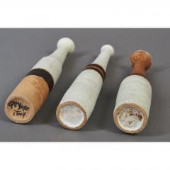 Bruno Gambone Set of Three Miniature Gambone Ceramic Vessels ca 1980 - 1002249