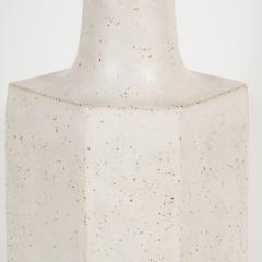 Bruno Gambone White ceramic lamp with brown details by Bruno Gambone - 1510778