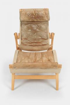Bruno Mathsson Bruno Mathsson Pernilla Armchair with Ottoman Leather - 1719953