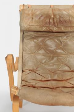 Bruno Mathsson Bruno Mathsson Pernilla Armchair with Ottoman Leather - 1719954
