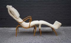 Bruno Mathsson Early Production Bruno Mathsson Pernilla Lounge Chair and Ottoman in Sheepskin - 1371822