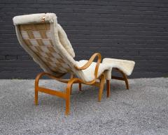 Bruno Mathsson Early Production Bruno Mathsson Pernilla Lounge Chair and Ottoman in Sheepskin - 1371824