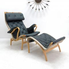 Bruno Mathsson Pernilla Lounge Chair with Ottoman by Bruno Mathsson for DUX - 584290