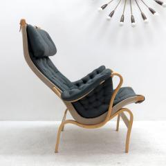 Bruno Mathsson Pernilla Lounge Chair with Ottoman by Bruno Mathsson for DUX - 584291