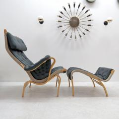 Bruno Mathsson Pernilla Lounge Chair With Ottoman By Bruno Mathsson For DUX    584292