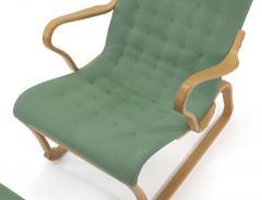 Bruno Mathsson Rare Model Bruno Mathsson Migo Chair and Ottoman - 1067198