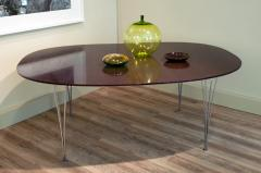 Bruno Mathsson Superellips Dining Table by Bruno Mathsson Piet Hein for Fritz Hansen 1960s - 910774