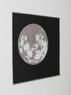 Bruno Munari Rare Map of The Moon Screenprint by Bruno Munari for Danese - 1392779