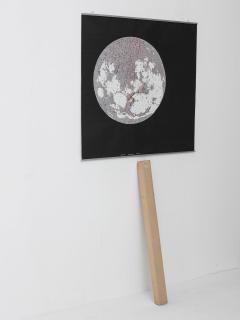 Bruno Munari Rare Map of The Moon Screenprint by Bruno Munari for Danese - 1392784