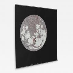 Bruno Munari Rare Map of The Moon Screenprint by Bruno Munari for Danese - 1394579