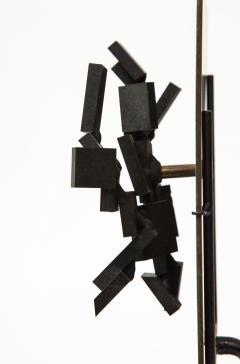 Brutalist Bronze Piece on Stand 20th Century - 1327143