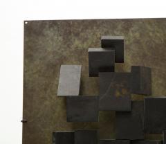 Brutalist Bronze Piece on Stand 20th Century - 1327147