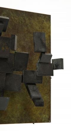 Brutalist Bronze Piece on Stand 20th Century - 1327149