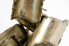 Brutalist Torch Cut Steel Sculpture by Marcello Fantoni - 775538