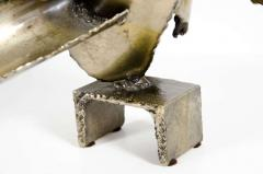 Brutalist Torch Cut Steel Sculpture by Marcello Fantoni - 775539