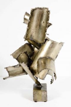Brutalist Torch Cut Steel Sculpture by Marcello Fantoni - 775568