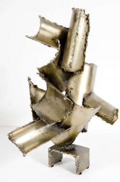 Brutalist Torch Cut Steel Sculpture by Marcello Fantoni - 775569