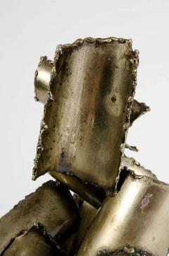 Brutalist Torch Cut Steel Sculpture by Marcello Fantoni - 775570
