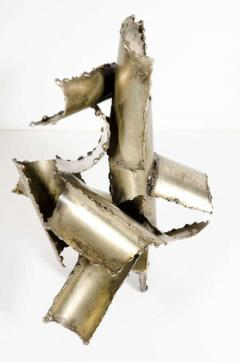 Brutalist Torch Cut Steel Sculpture by Marcello Fantoni - 775571