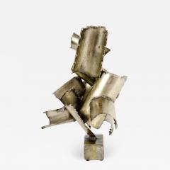 Brutalist Torch Cut Steel Sculpture by Marcello Fantoni - 777340