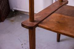 Brutalist rarest mahogany 2 seat settee bench - 1702934