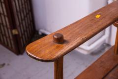 Brutalist rarest mahogany 2 seat settee bench - 1702935