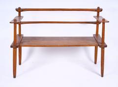 Brutalist rarest mahogany 2 seat settee bench - 1702939
