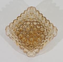 Bubble Amber Tone Flush Mount - 158210
