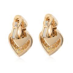 Bulgari Doppio Cuore Diamond Earrings in 18K Yellow Gold 3 CTW - 1364363