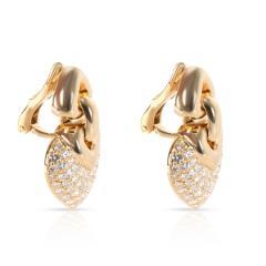 Bulgari Doppio Cuore Diamond Earrings in 18K Yellow Gold 3 CTW - 1364364