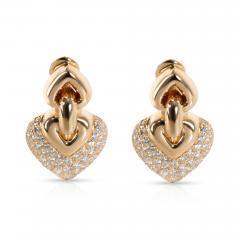 Bulgari Doppio Cuore Diamond Earrings in 18K Yellow Gold 3 CTW - 1365716