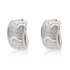 Bulgari Parentesi Diamond Earrings in 18K White Gold 0 5 CTW - 1365711