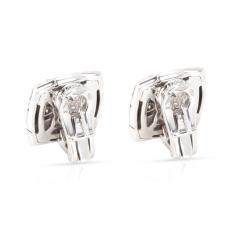 Bulgari Piramide Diamond Earrings in 18K White Gold 0 58 CTW - 1364341