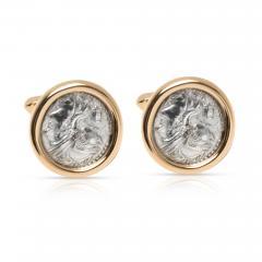 Bulgari Roman Coin Men s Cufflinks in 18K Yellow Gold - 1300768