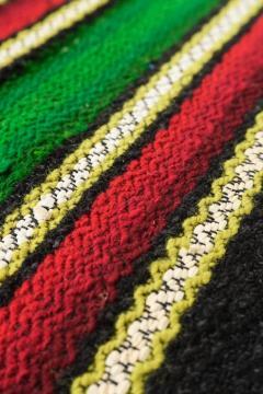 Bulgarian Tcerga runner hand woven 60s - 1891049