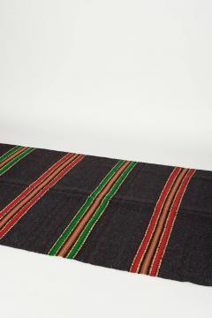 Bulgarian Tcerga runner hand woven red green black 60s - 1891004