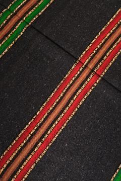 Bulgarian Tcerga runner hand woven red green black 60s - 1891006