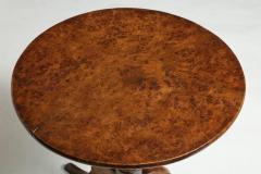 Burl Oak Tripod Table - 663831