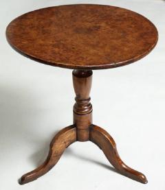 Burl Oak Tripod Table - 663839