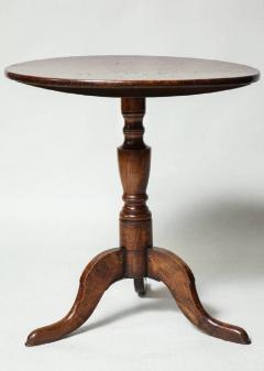 Burl Oak Tripod Table - 663841