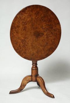 Burl Oak Tripod Table - 663844