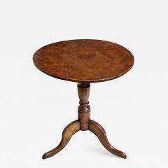 Burl Oak Tripod Table - 664462