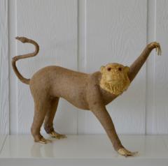 Burlap Monkey Statue - 1029581