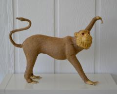 Burlap Monkey Statue - 1029583