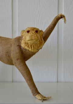 Burlap Monkey Statue - 1029586
