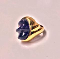 Burle Marx Style 18 Karat Amethyst Ring Secrett circa 1970 - 1457583